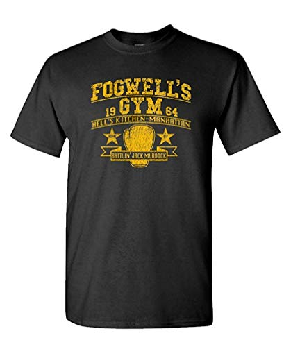 FOGWELL'S Gym - Daredevil Comic Hero tv - Mens Cotton T-Shirt M