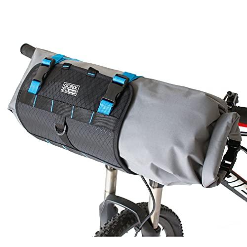GORIX(ゴリックス) フロントバッグ 防水 ハンドルバッグ [大容量・収納袋取り外し・簡単取り付け] 雨対策 伸縮 フロントバッグ GX-6408