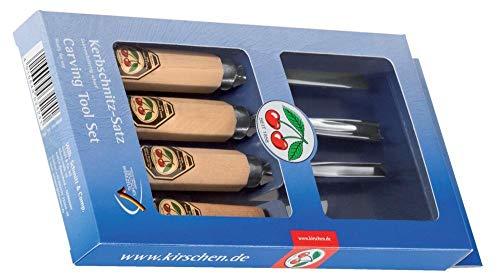 Kirschen 3424000 Schnitzwerkzeug-Satz im Verkaufskarton 4 - tlg. Beitel