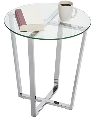 Mango Steam Metro Glass End Table - Clear Top
