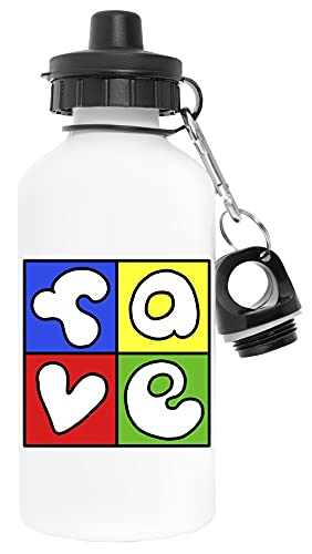 Fave Colored Blanco Botella de Agua Aluminio Deportes Viaje Exterior White Water Bottle Aluminium Sports Travel Outdoor