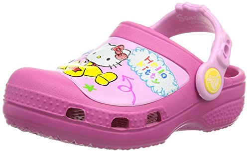 Crocs Creative Crocs Hello Kitty Plane, Sabots Fille, Rose (Fuchsia) 32/33 EU