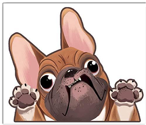Biomar Labs 1 x Vinilo Autoadhesivo French Bulldog Frances Perro Dog Pegatina...