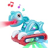 UNIH Baby Toys for 1 Year Old Boy Girl, Musical Dinosaur Car Crawling Developmental Toys with Sounds and Lights Infant Toys for 6 to 12-18 Months