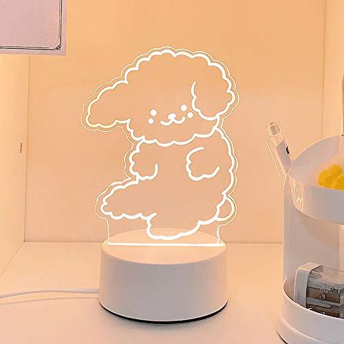 Mabor Lindo 3D Luz de Noche LED Precioso Oso Perro Mesa USB de Dibujos Animados de la Lámpara Táctil Acrílico Luminoso Regalo para Niños Vac