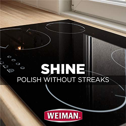 Weiman Ceramic and Glass Cooktop Cleaner - Heavy Duty Cleaner and Polish (10 Ounce Bottle and 3 Scrubbing Pads)