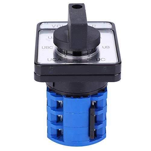 KUIDAMOS Interruptor selector de Cambio de 8 terminales Interruptor de Leva Generador Selector de Cambio Interruptor selector Giratorio de 4 Posiciones de Alta Resistencia Accesorio Industrial