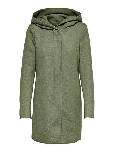 Only ONLSEDONA Light Coat OTW Noos Abrigo de Mezcla de Lana, Watercress, M para Mujer