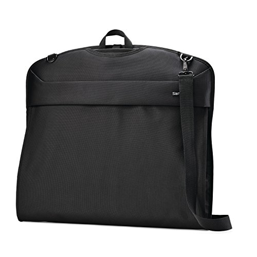Samsonite Flexis Softside Expandable Luggage with Spinner Wheels, Jet Black, Garment Sleeve