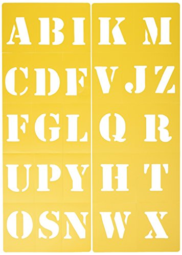 Darice 121729 Block Style Font Upper Case Alphabet Stencil, 2-Inch