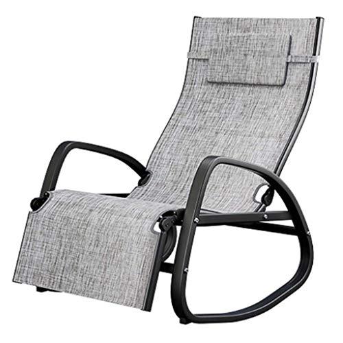 smzzz Schreibwaren Bürobedarf Klappstuhl Mittagspause Adult Escape Chair Home Balkon Nickerchen Klappstuhl Casual Old Man Schaukelstuhl Outdoor Courtyard Beach