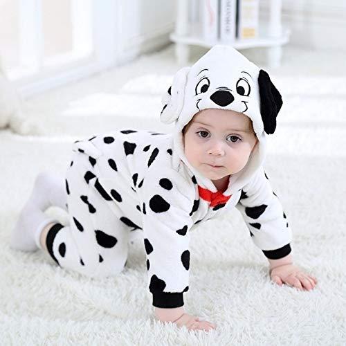 SOHOH Pijama Unicornio Dálmata Onesie bebé de la Historieta del Mameluco recién Nacido con Capucha Ropa Infantil Niña Niño Pijamas Animal Onesie del Mono Puntada Traje de Franela Mamelucos del bebé