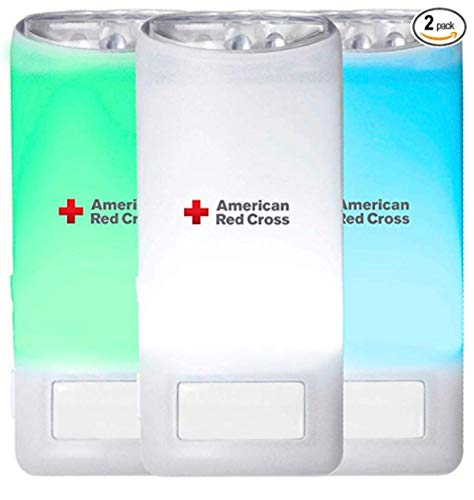 Eton American Red Cross Blackout Buddy Color Motion Activated Emergency LED Flashlight, Blackout Alert & Nightlight (Pack of 2)