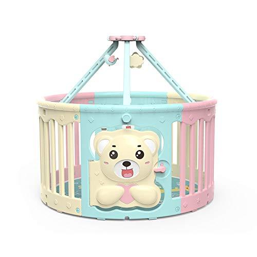Barrières MAHZONG Baby Fence de sécurité pour Enfants, Tube de Fer, 6 Panneaux Portables, de de Jeu extérieure pour Enfants en extérieur, 119 * 65CM