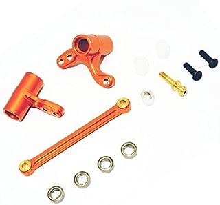 CrazyRacer HPI BULLET3.0 MT ST Ken Block WR8 Flux Upgrade Parts Aluminum Alloy Steering Assembly Bellcrank-1SET Orange