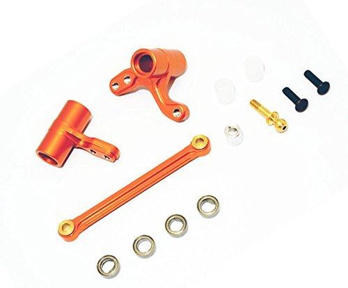 H-P-I BULLET3.0 MT ST KEN BLOCK WR8 FLUX Upgrade Parts Aluminum Alloy Steering Assembly Bellcrank-1SET Orange