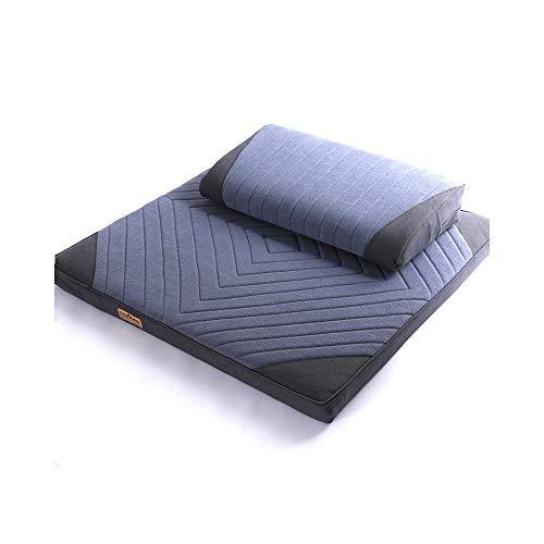 CulturedWisdom Zafu Zabuton Zen Meditation Blue Cushion and Mat