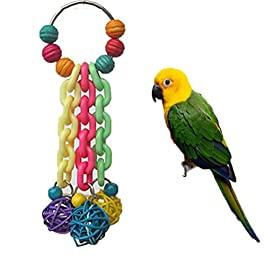 Keersi Bird Toy for Parrot African Greys Budgie Cockatoo Parakeet Cockatiels Conure Macaw Lovebird Canaries Cage Chew Toy