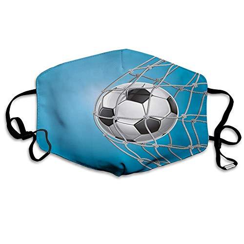 Mundschutz Mundbedeckung Gesichtsbedeckung, Fußball, Tor Fußball in der Netzunterhaltung Spielen für den Gewinn eines aktiven Lebensstils, Grau-Schwarz, Gesichtsdekorationen
