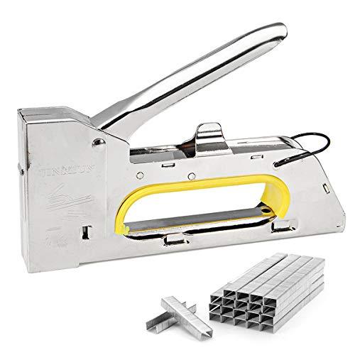 XCQ 4-6-8mm handliche Heavy Duty Papier Möbel Tacker Tacker Hefter mit 2400 Staples Durable 0326