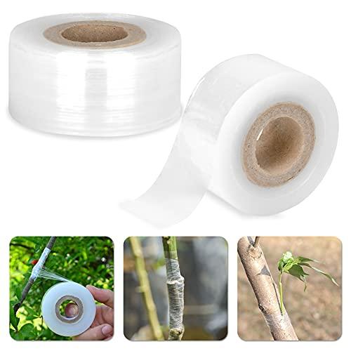 Dereine 2 Stück Transparent Pfropfband, Fuß Pfropfen Dehnbare Band, Feuchtigkeit Barriere Pflanze Reparatur Garten Graft