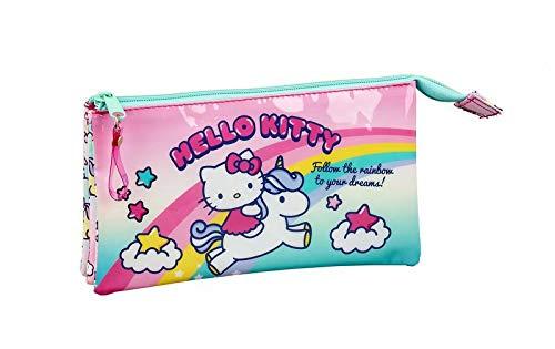 Hello Kitty Candy Unicorns - Astuccio ufficiale per la scuola, 220 x 30 x 100 mm