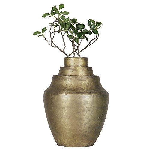 BEPUREHOME Cheer Vase Metall Messing antik 31x23 x 23 cm 800701-B