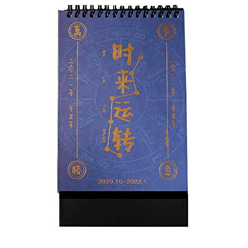 Calendario de Mesa Chinos Año Nuevo 2021 Calendario Mensual Grande para el Año Lunar del Buey,14x5x20cm,Estilo Chino Calendario 2021 Apuntar para 2021 Año Nuevo Chino Suministros para El Hogar de Ofi