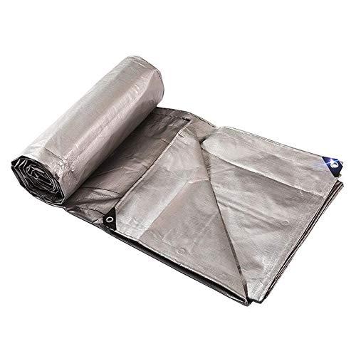 GWZSX Lona De Protección Grueso Cifrado Lonas Prueba de Lluvia A Prueba de desgarros Refugio De Lluvia Tarea Pesada Tela Cubiertas Plástico para jardinería de pérgolas-3x6m