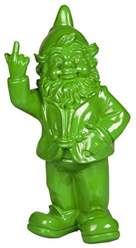 STOOBZ PP 005LI 15 x 12 x 32 cm Freche Gartenzwerg Figur für Haus und Garten - Limette