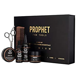 Beard Kit for Men Grooming And Care | 6 Pieces | Personal Barber in Your Bathroom | Organic Ingredients to Grow Thicker… 1