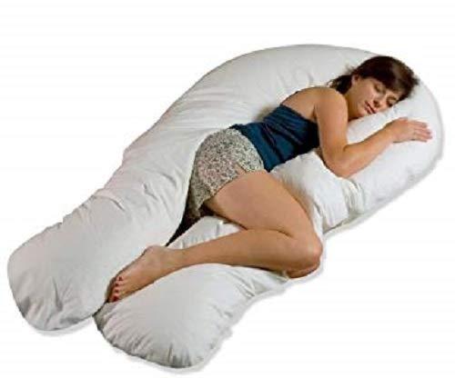 Looms-Work® Coussin de maternité de luxe en forme de U de 3,7 m pour soutien du corps et du dos