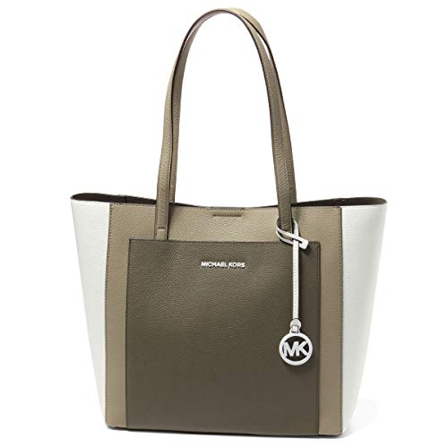 Michael Kors Gemma Large Pocket Tote, Olive/Multi, Pebbled Leather