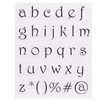 friendsty クリアシールスタンプ、1/8ピースアルファベット文字番号シリコンクリアシールスタンプDIYスクラップブッキングエンボス64#