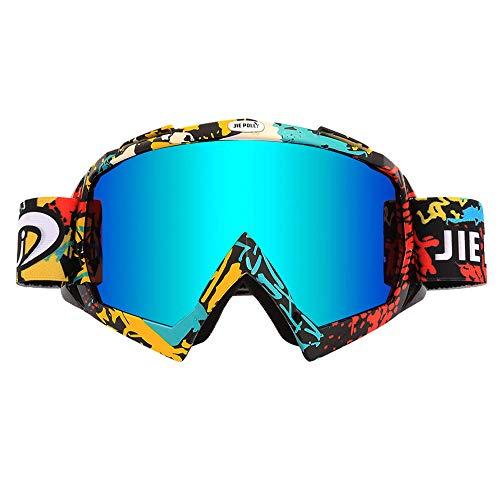 JIEPOLLY Cycling Goggles, Windproof Flexible Frame Dust-proof Anti-scratch Lens, For riding biking Snowboarding skiing Hiking Climbing Cycling Women Mens