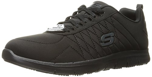 Skechers for Work Women's Ghenter Work Shoe,Black,11 M US