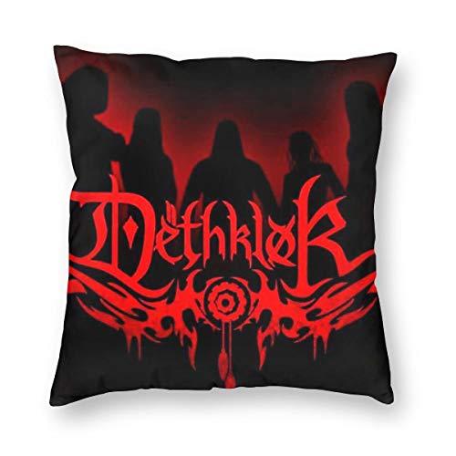 Weretlyop Dethklok Metalocalypse Cartoon Rock N Roll - Fundas de almohada cuadradas para el hogar, sofá, coche, decoración de color blanco, 26 pulgadas x 26