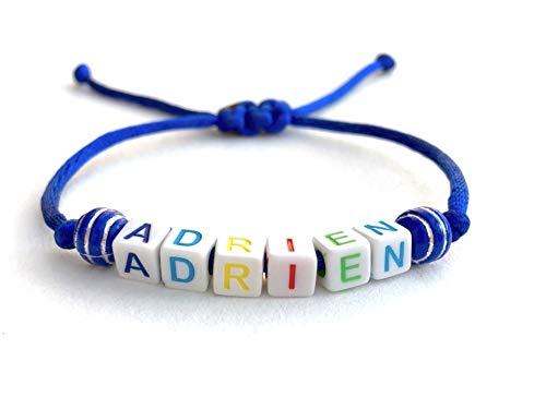 Pulsera ADRIEN LOVE AMOR ajustable reversible con nombre, texto, logotipo, mensaje; regalo personalizado mamá, papá, cumpleaños, navidad, nacimiento, boda, bautizo