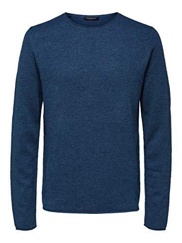 SELECTED HOMME 16062814 Maglione, Blu (Brillante bluemelange), S Uomo