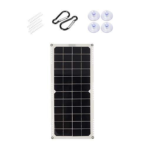 Dcolor Solar Panel 20W 12V Semi Flexible Monokristalline Solar Zelle DIY Modul Kabel Au?En Anschluss Batterie Ladeger?T
