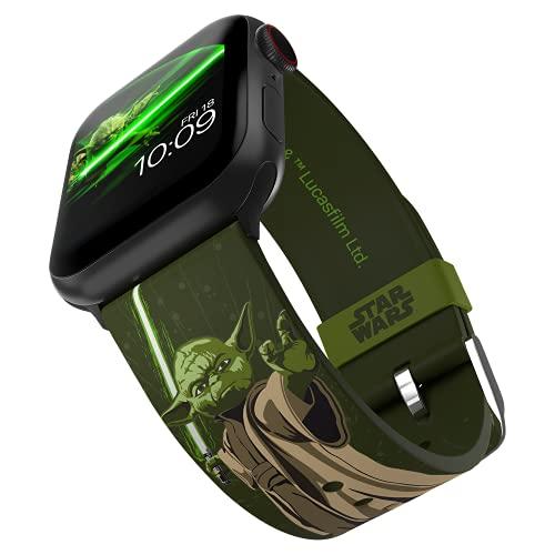 MobyFox Correa de reloj inteligente Yoda Edición - Con licencia oficial, compatible con Apple Ver (no incluido) - Se adapta a 38 mm, 40 mm, 42 mm y 44 mm