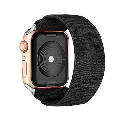 Correa de nailon elástica Solo Loop para Apple Watch Band 6 38mm 40mm 42 Mm 44 Mm Para Iwatch Series 6 5 4 3 2 Correa de repuesto para reloj, negro, 38mm 40mm ML