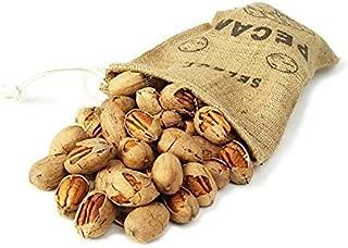 Texas Cracked Pecans In Shell 3-Pound Burlap Bag | Millican Pecan since 1888 | San Saba, Texas