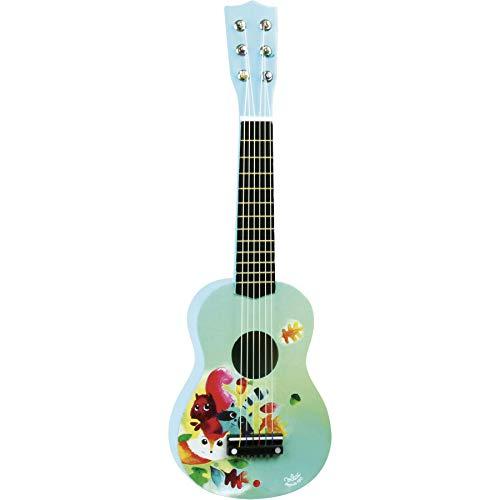 Vilac–8349–Gitarre aus Holz, Illustration Motiv Wald
