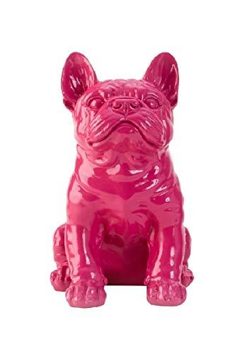 Geschenkestadl Französische Bulldogge Mops Figur (Pink)