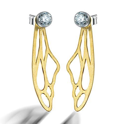 ♥ Regalo para ti♥ Springlight Pendientes colgantes de plata esterlina S925, forma...