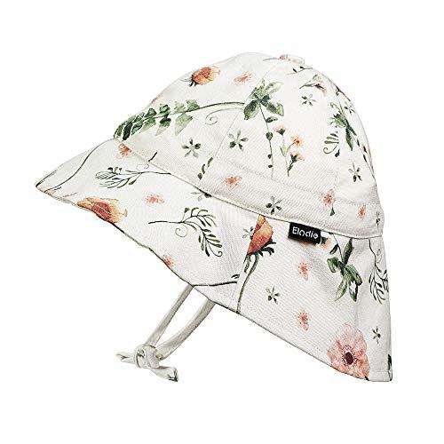 Elodie Details Sombrero de Sol para Bebé SPF30-24-36 Meses - Meadow Blossom, Blanco/Rosa