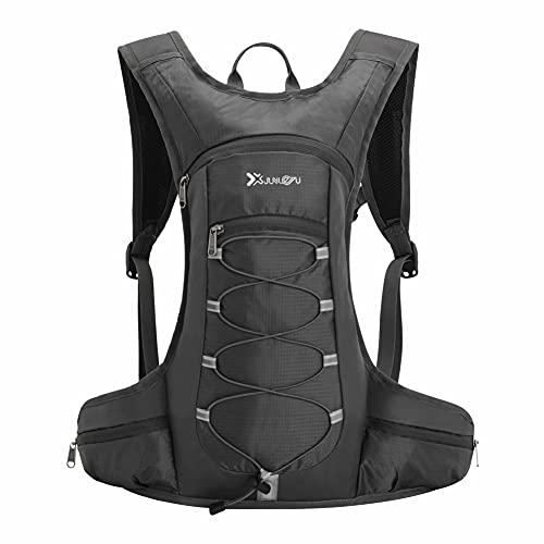Ynport Crefreak - Mochila de hidratación para ciclismo, para correr, senderismo, ciclismo, camping y montañismo Negro Talla única