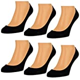6 Paar Damen Füßlinge Unsichtbare Sneaker Socken Baumwolle Schwarz Weiße Beige - RS 15500 (39-42, 6 Paar   Schwarz)