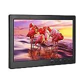 Dpofirs Monitor 1080P Altavoces duales Pantalla panorámica de 10,1 Pulgadas AV VGA HDMI BNC Computadora de Escritorio(European regulations)
